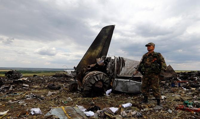 Над Луганском сбит самолет Ил-76 (фото №2)