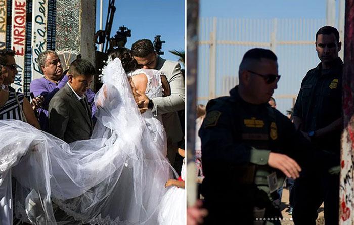 Американцу и мексиканке пришлось пожениться прямо на границе всего за 3 минуты