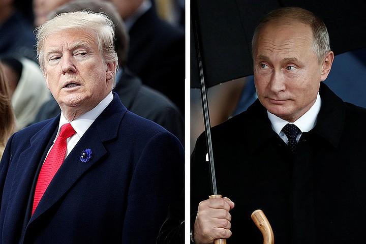 Путин и Трамп на рабочем лан…