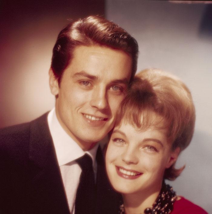 Ален Делон  и Роми Шнайдер 1961 год.