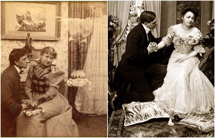 Я вас люблю: ретро фотографии, на которых запечатлены предложения руки и сердца