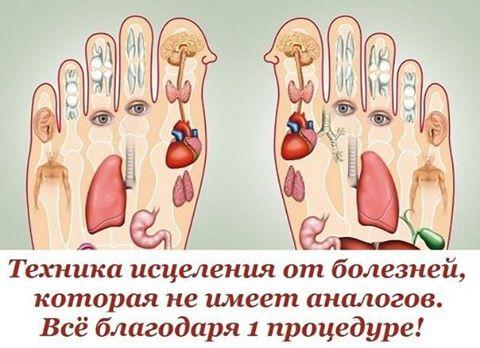 Согласно принципам рефлексологии