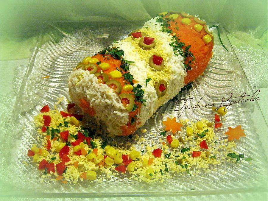 салат хлопушка рецепт с фото