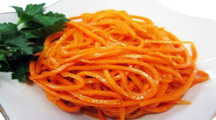 Очень вкусная морковь по-корейски