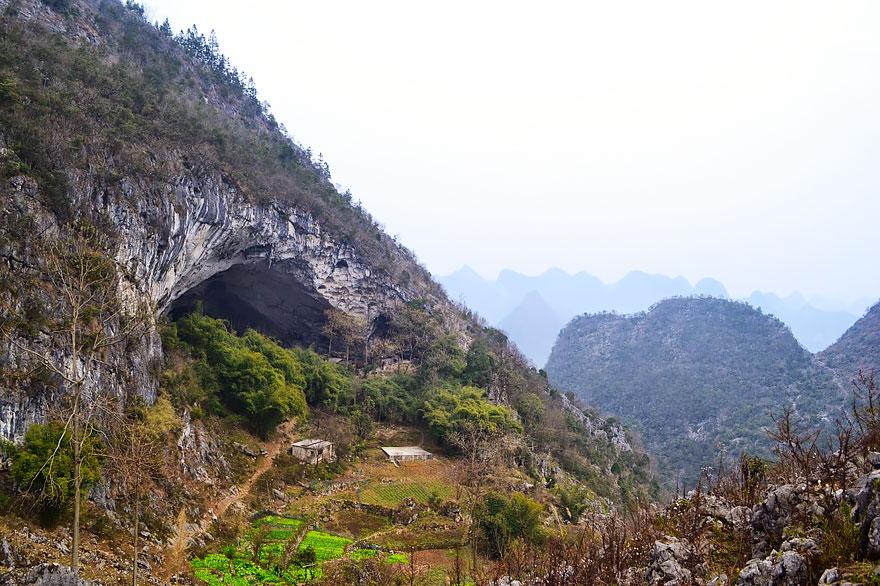 Гигантская Пещера В Китае, В…