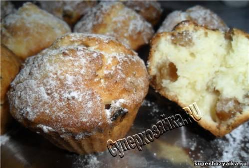 Кексы творожные с изюмом рецепт пошагово