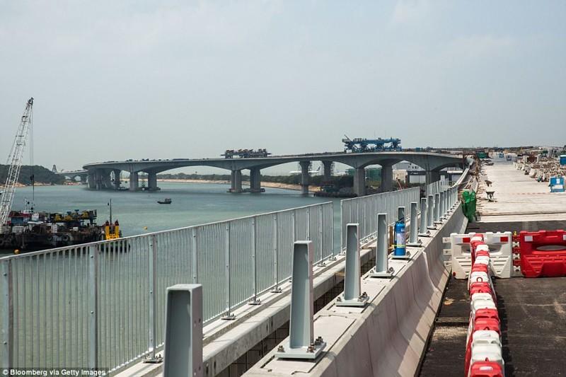 Строительство моста, 28 марта 2017 года гонконг, длина, китай, море, мост, путь, рекорд, строительство