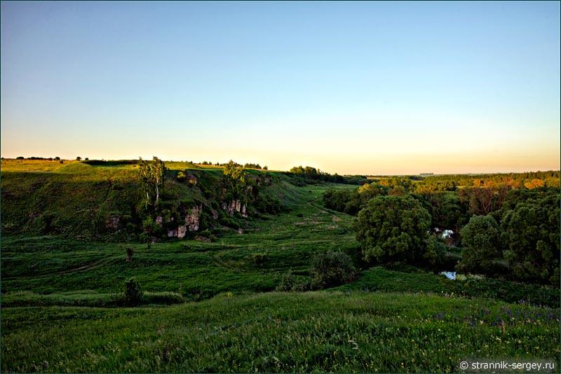 Древнерусский город городище Щучий городок на Осетре