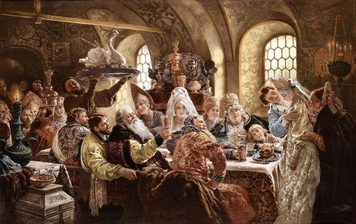 Царские пиры на Руси: Как устраивали застолья, и что случалось с обжорами во время торжества