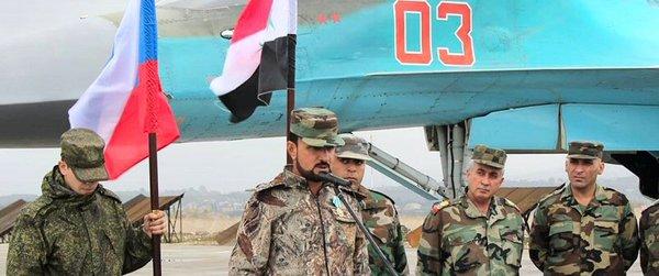 Генерал Сухель Аль-Хасан на авиабазе Хмеймим