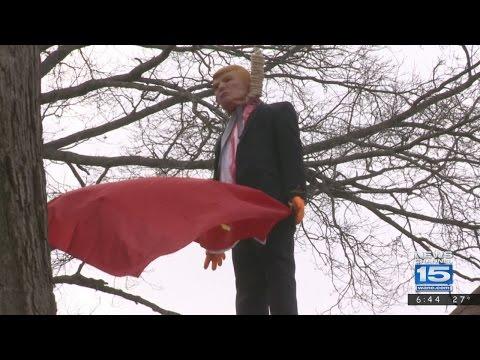 Wane: cвобода слова мешает полиции снять Трампа, повешенного с советским флагом