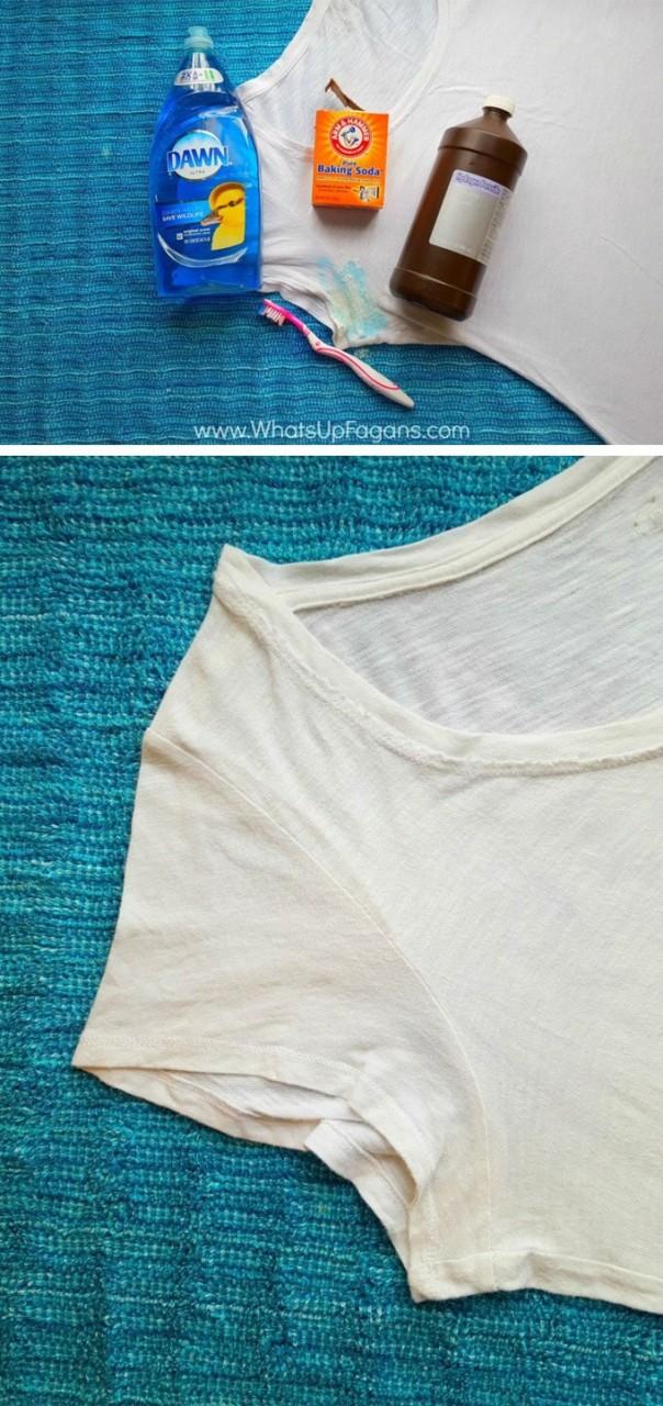 9 предметов из кладовой, которые помогут удалить пятна от пота