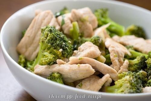 Диетические куриные грудки с брокколи.