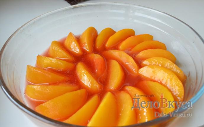Карамелизированные персики. Начинка из персиков