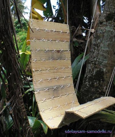 Мастерим деревянное кресло-гамак