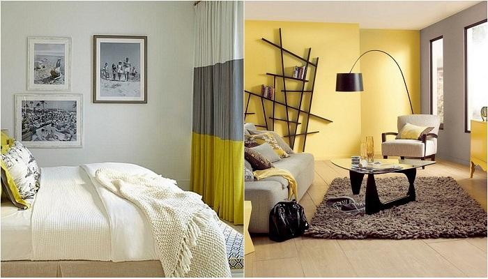 Идеи вашего дома: Потрясающие интерьеры в желто-серых тонах, которые подарят солнечное настроение в серые осенние дни