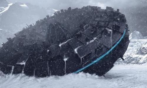 Летающая тарелка, вмерзшая во льды Антарктиды, замечена на снимках со спутника