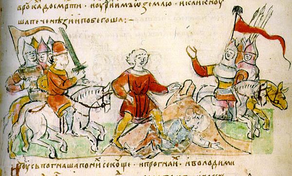 Батальные сцены в Русских и Европейских средневековых миниатюрах.