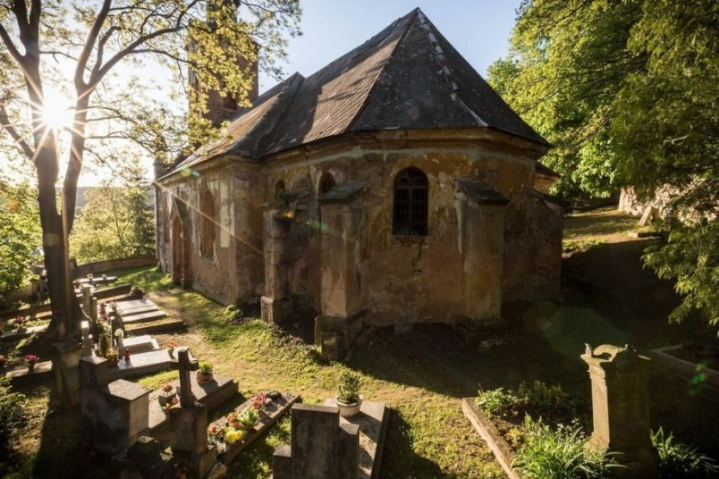 Призраки церкви Святого Георгия в селе Лукова