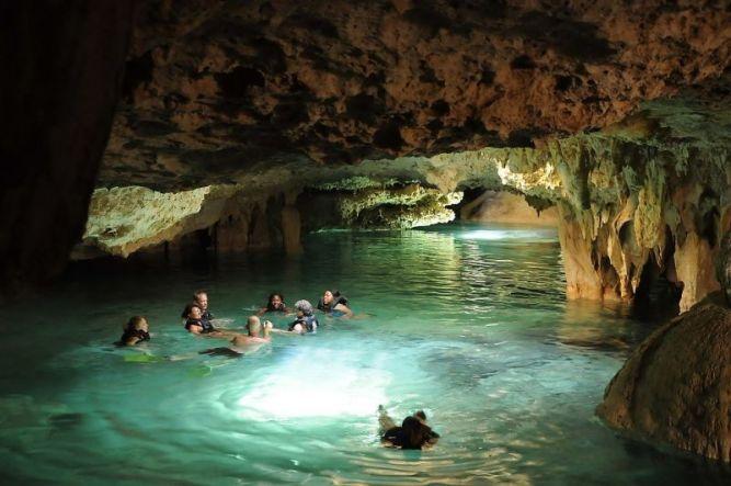 Сак-Актун (Sac Actun) - самая длинная подземная река в мире, Тулум, Мексика