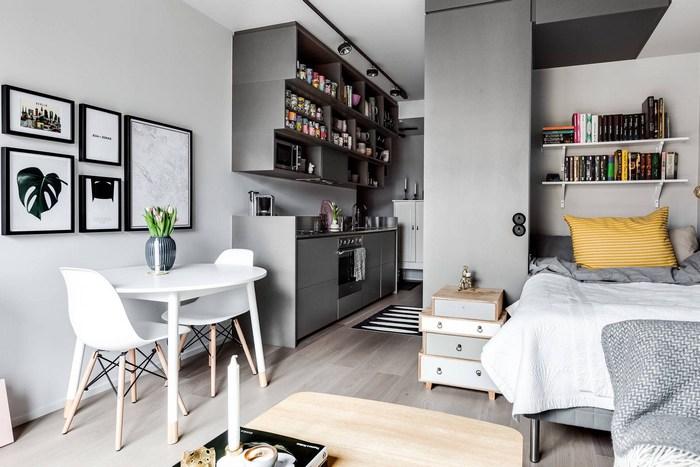 Как из тесной коробки сделать шикарные апартаменты: 30 кв.м. функционального и стильного дизайна