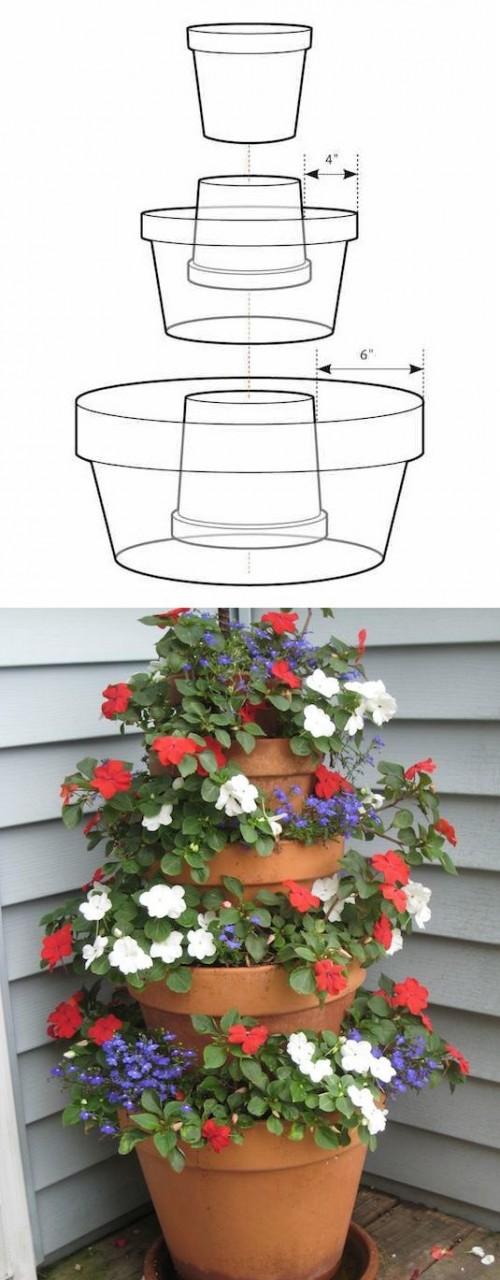 Цветочный фонтан