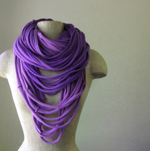 Вязание на спицами детский шарфик