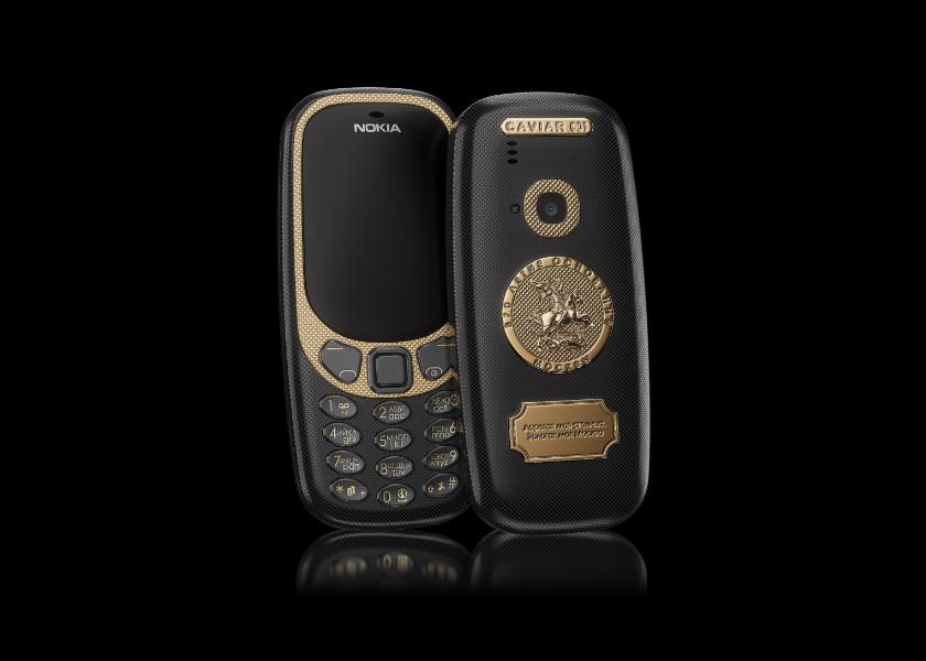 Еще одна дичь от Caviar: титановый Nokia 3310 с гравюрами городов русских