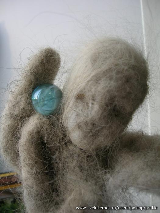 Девочка и шарик. Фильцевание