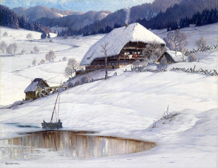 Необыкновенно уютные и заснеженные альпийские пейзажи Карла Гауптмана (Karl Hauptmann)