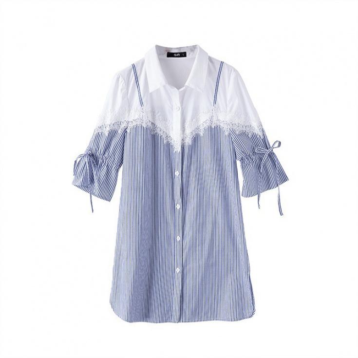 Блузка с ложным топом