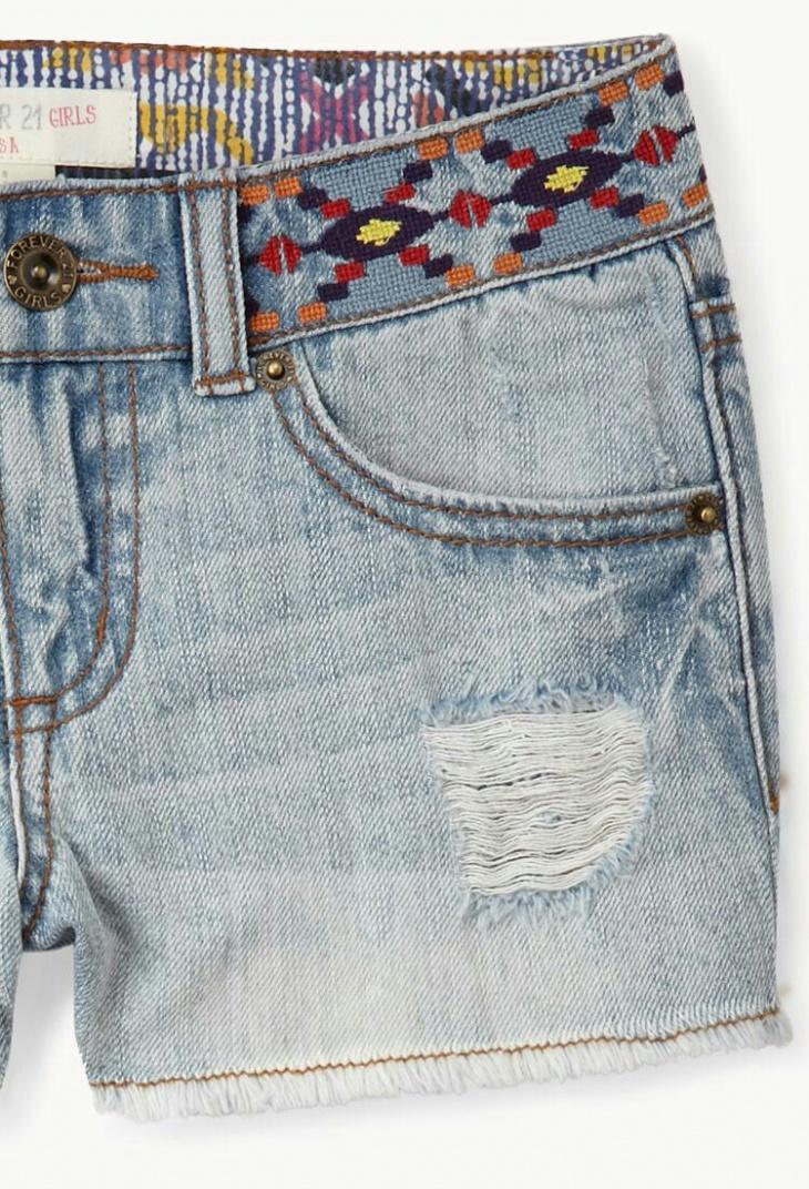 Вышитый пояс джинсов