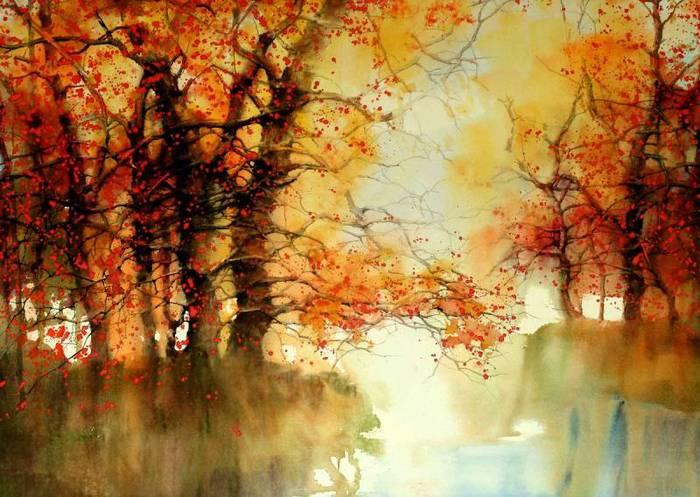 Осенняя акварель  от Z.L. Feng