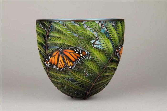 Потрясающие кружевные вазы из дерева