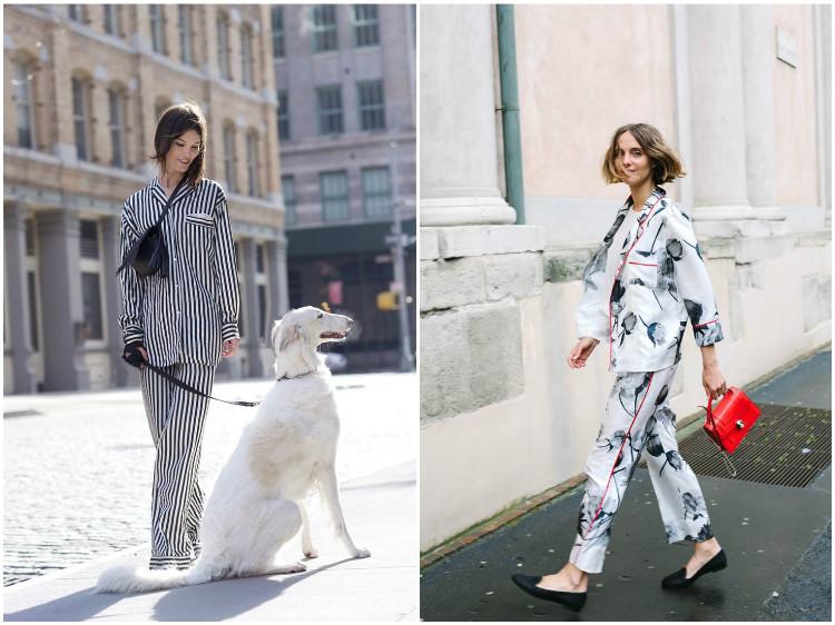 Одежда в бельевом стиле: пижамы