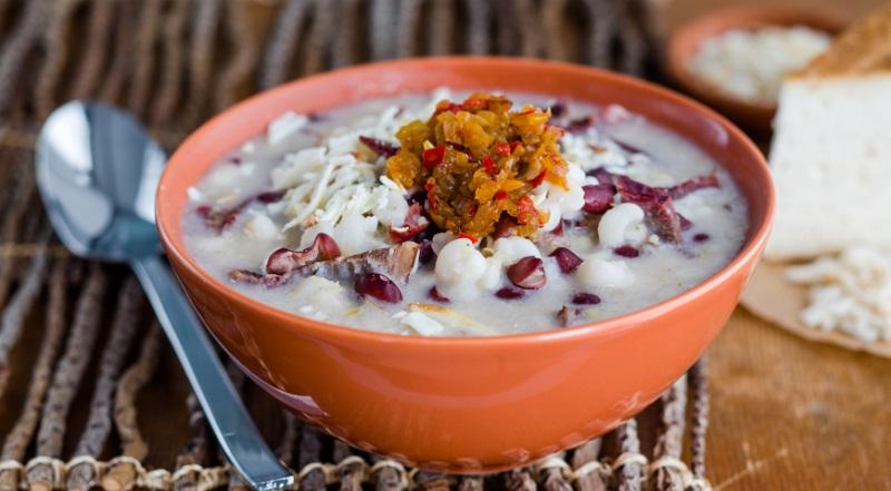 кукурузный суп с мясом