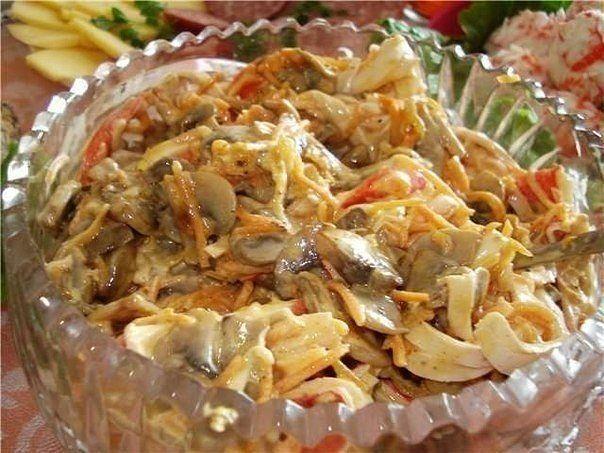 Очень вкусный и нежный салат «Нежность». Станет хитом на праздничном столе!