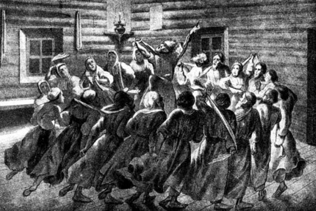 Культы и секты На просторах империи процветали секты и культы, образовавшиеся во время раскола Русской Православной Церкви. Хлысты избивали себя плетками, Молокане отказывались служить в армии и пытались создать собственную коммуну в Сибири. Мрачнее всех была секта скопцов, которые считали секс источником всякого греха и практиковали ритуальную кастрацию, применимую даже к маленьким детям.