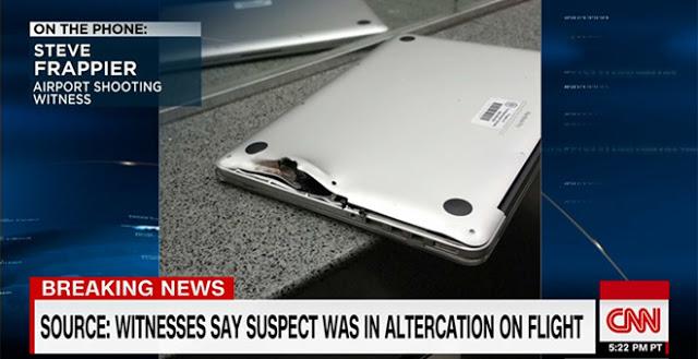 Мужчина утверждает что MacBook Pro спас ему жизнь