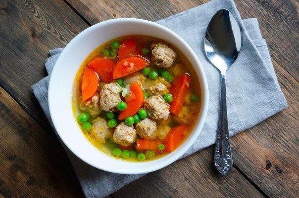 Прозрачный суп с фрикадельками. Секреты на кухне делают блюда волшебными!