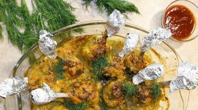 Куриные голени «Чистые Руки» видео, еда, рецепт, ужин