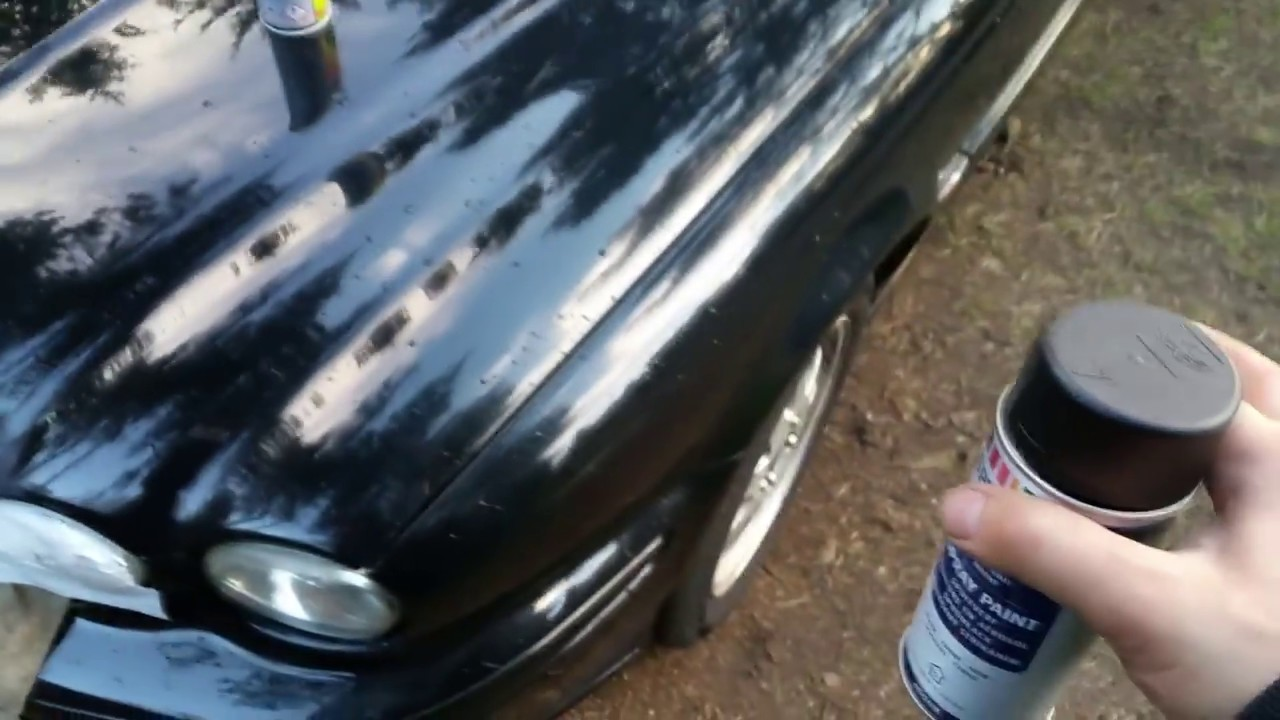 Покраска машины краской из хозмагазина в лесу