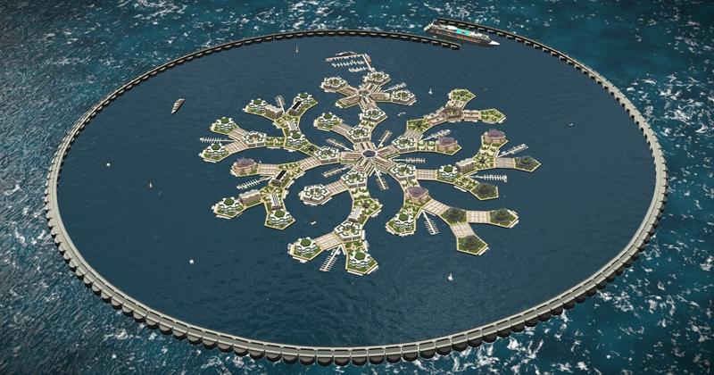 В 2020 году в Тихом океане появится первый плавучий город