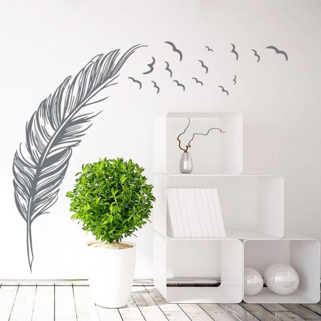 Трафаретные рисунки и интерьерные наклейки – легкий способ украсить стену