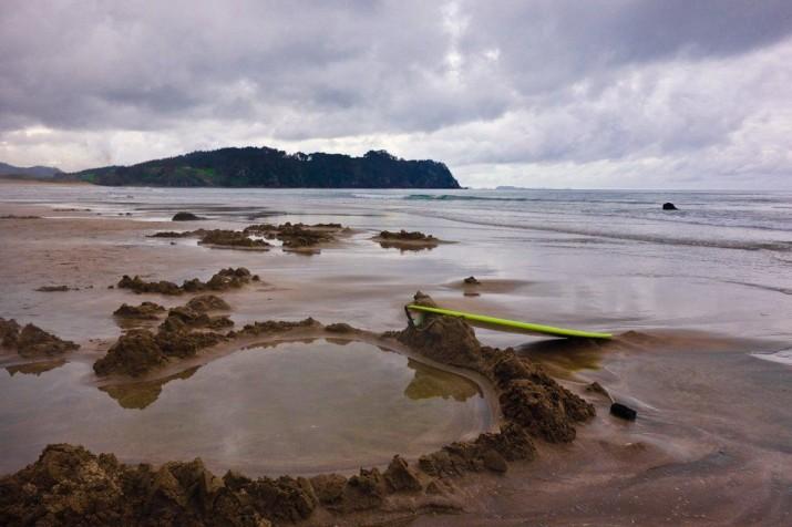 Горячий пляж в Новой Зеландии