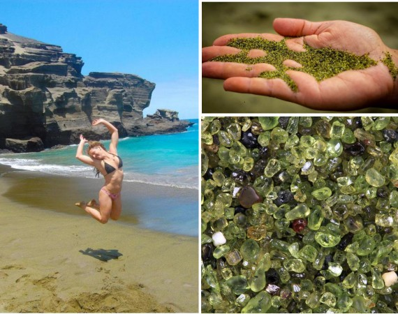 «Зелёный пляж» на Гавайях...