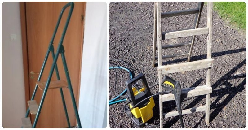 15 крутых идей использования старой лестницы-стремянки, которые впишутся в любой интерьер