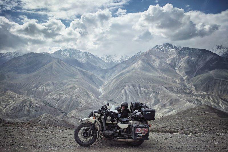 Ваханский коридор, Таджикистан, высота 4 000 метров монголия, мотоцикл, мотоцикл с коляской, мотоцикл урал, путешественники, путешествие, средняя азия, туризм