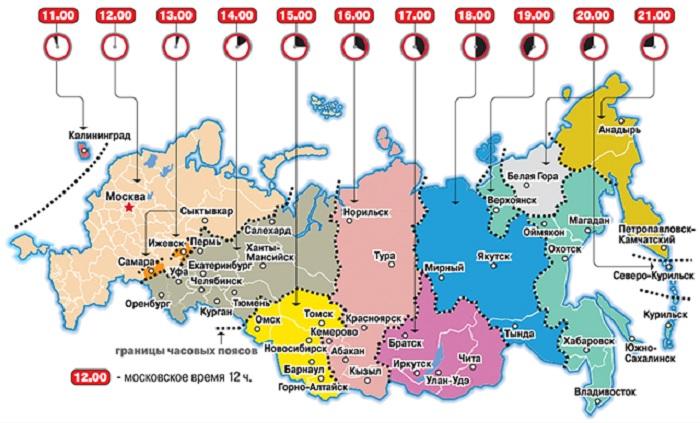 В России 11 часовых поясов. | Фото: static1.repo.aif.ru.