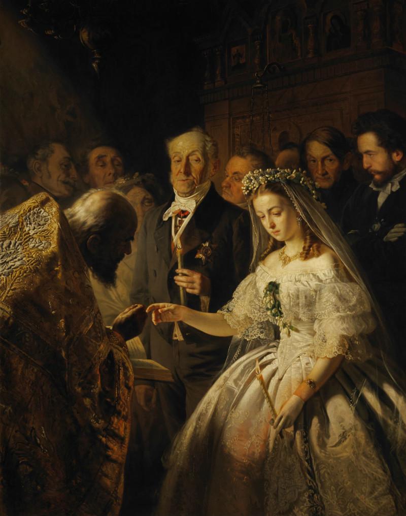 Василий Пукирев - Неравный брак Васнецов, картины, репин, художники